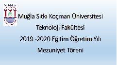 2019-2020 Eğitim Öğretim Yılı Online Mezuniyet Töreni